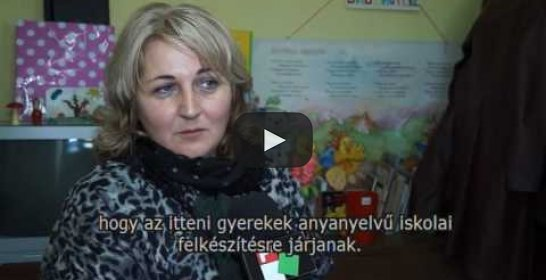 Embedded thumbnail for Először nyílt magyar óvodai csoport Nezsényben