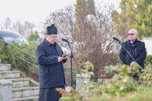 Dr. Sántha György és felesége kolumbáriumának felszentelése