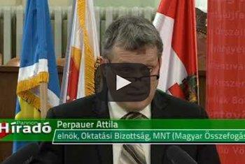 Embedded thumbnail for MNT-ülés: Vita a 15-nél kisebb létszámú magyar osztályok megnyitásáról