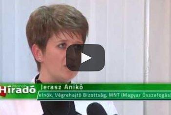 Embedded thumbnail for Jerasz Anikó az MNT Végrehajtó Bizottságának elnöke (videó)